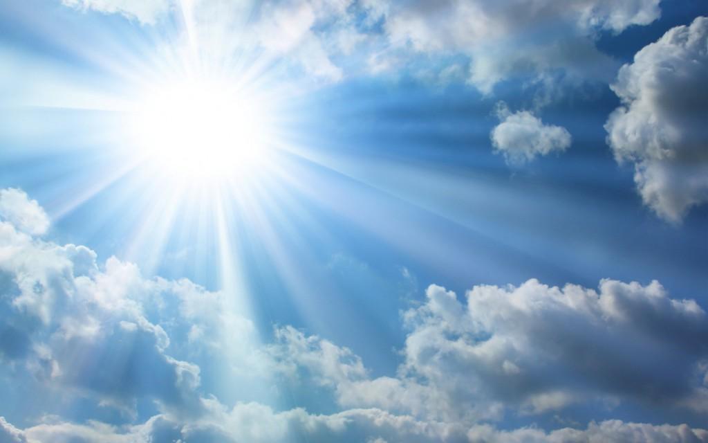 Himmel Wolken Sonne Wallpaper 2467-himmel-sonne-wolken