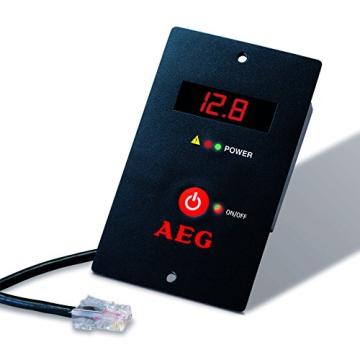 AEG 97121 Sinus-Spannungswandler SW 1000 Watt, 12 Volt auf 230 Volt, mit LCD-Display, USB Ladebuchse, Fernsteuerungsmodul und Batteriewächterfunktion -