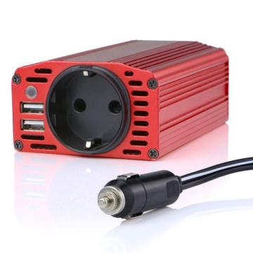 BESTEK KFZ 300W Wechselrichter 12V auf 230V mit 2 USB Anschlüsse und Zigarettenanzünder Stecker, Eurosteckdose -