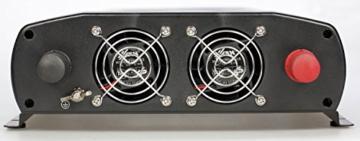 AEG 97122 Sinus-Spannungswandler SW 1500 Watt, 12 Volt auf 230 Volt, mit LCD-Display, USB Ladebuchse, Fernsteuerungsmodul und Batteriewächterfunktion -