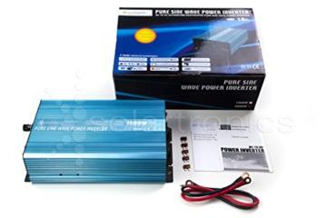 Spannungswandler Sinus Wechselrichter 1500 Watt 12-230V -