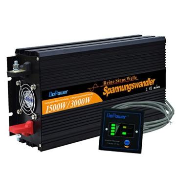 wechselrichter reiner sinus 1500 3000W spannungswandler 12V 230V inverter pure sine wave -